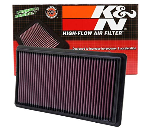 K&N engine air filter, washable and reusable:  2007-2019 Ford/Lincoln SUV and Compact V6/L4 (Explorer, Flex, Taurus, Edge, MKT, MKS) 33-2395 (N/a Cx Replacement)