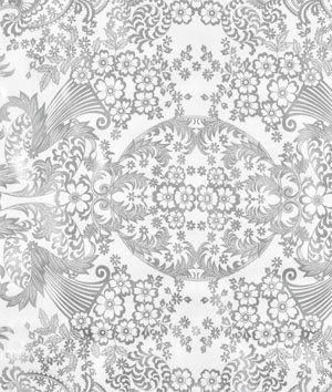 Silver Paradise Lace Oilcloth