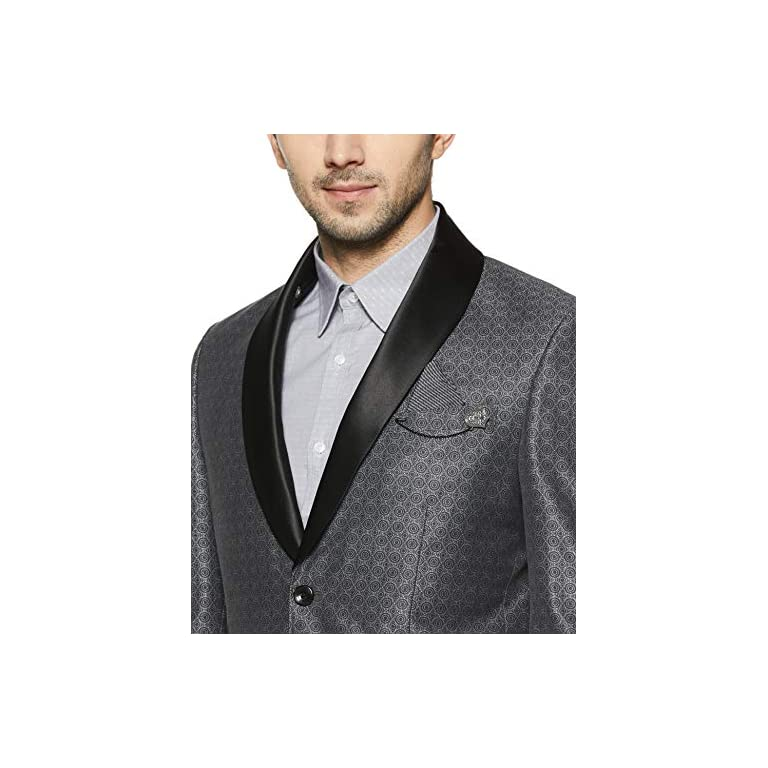 51Kck45GOVL. SS768  - blackberrys Men's Shawl Collar Slim Fit Blazer