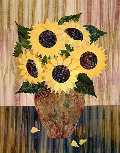 Laundry Basket Quilts, Sunflowers - Raw Edge Patterns