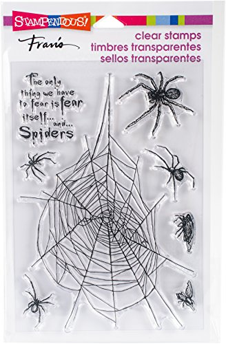 STAMPENDOUS Spider Fear Clear Stamp Set