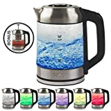 Salton GK1758 Cordless Electric Jug Kettle 1.7L with LED Color Changing Temperature