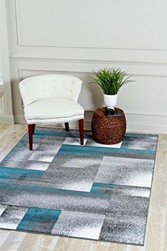4961 Turquoise Moroccan Trellis 5'2x7'2 Area Rug Carpet Large New