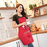 Leading Apron Kitchen Butcher Apron Chef Cooking Breathable Fabric -68 x72cm (Apron Red)