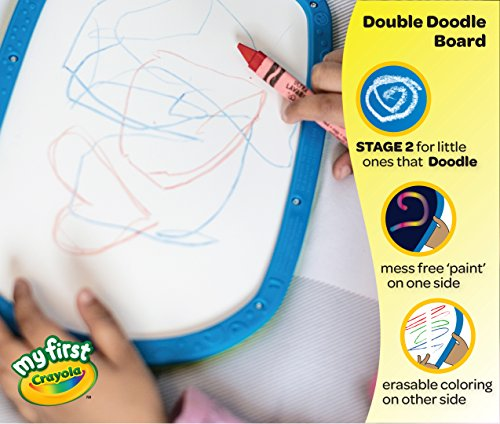 51Kckads3LL - Crayola My First Double Doodle Board Drawing Tablet, Toddler Toy, Gift