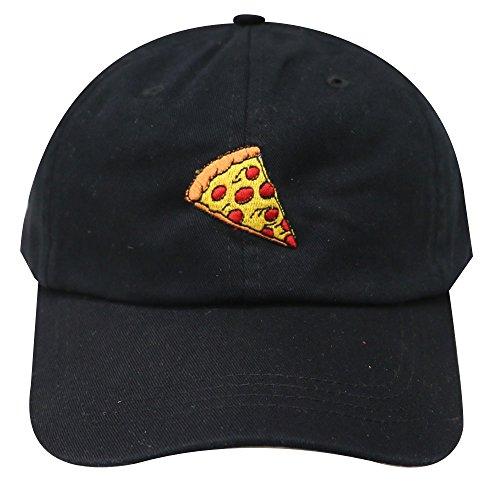bdf45326 City Hunter C104 Pepperoni Pizza Cotton Baseball Dad Caps 14 Colors (Black)