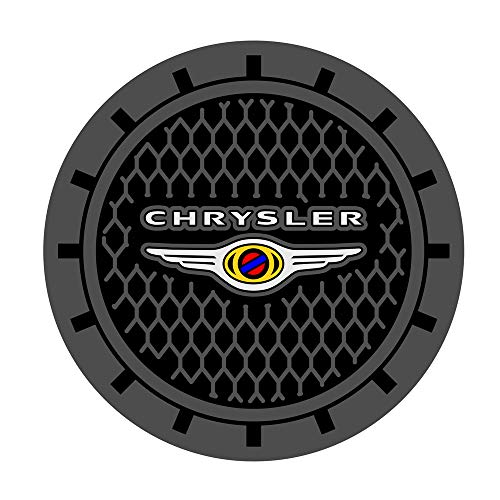 Auto sport 2.75 Inch Diameter Oval Tough Car Logo Vehicle Travel Auto Cup Holder Insert Coaster Can 2 Pcs Pack for Chrysler Accessory