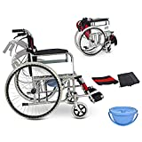 TX Foldable Medical Wheelchair Lightweight Steel Multifunction Portable Potty