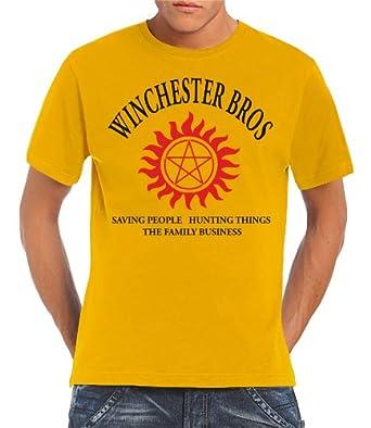 Touchlines Shirt Winchester Bros Family Pour Homme Medium Amazon Fr
