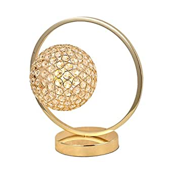 Gold Crystal Ball Bedroom Table Light Modern Restaurant