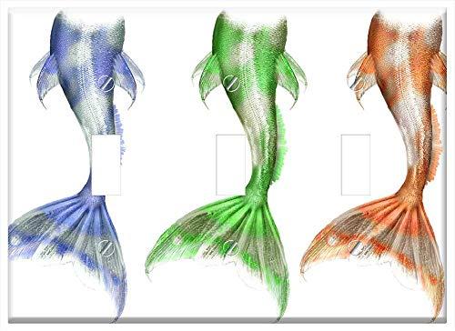 Switch Plate Triple Toggle - Mermaid Merman Merfolk Mer Myth Mythical ()