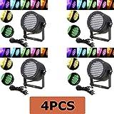MegaPower (TM) 4PCS 4 PACK 86 PAR RGB LED Stage Light Party Show DMX Lighting Disco Projector