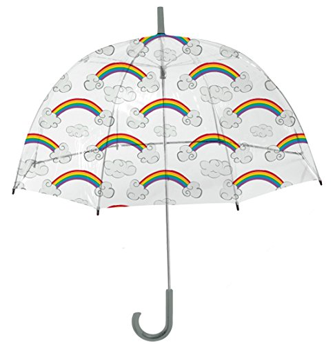 Rainbrella Kids Sky Collection Rainbows Umbrella, Clear -
