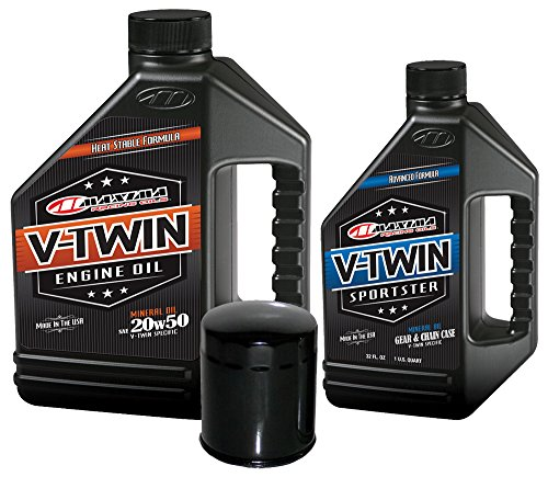 MaximaHiflofiltro VTTOCK01 Complete Engine Oil Change Kit for V-Twin Harley Davidson Sportster, 5 quart