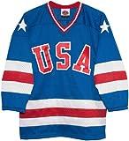 USA 1980 Olympic Miracle on Ice Away Blue Hockey Jersey (XXL)