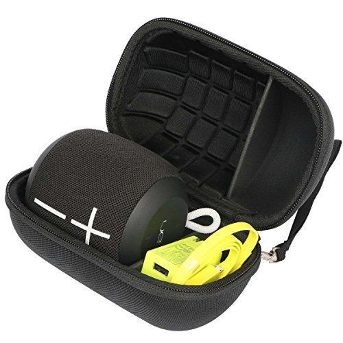 (Khanka Hard Travel Case Replacement for Ultimate Ears WONDERBOOM/WONDERBOOM 2 Waterproof Super Portable Bluetooth Speaker - (Black))