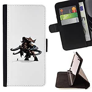 BullDog Case - FOR/Sony Xperia Z3 D6603 / - / cartoon 3d figurine character monster man duo /- Monedero de cuero de la PU Llevar cubierta de la caja con el ID Credit Card Slots Flip funda de cuer