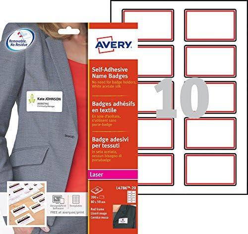 Avery L4786-20 Selbstklebende Namensschilder