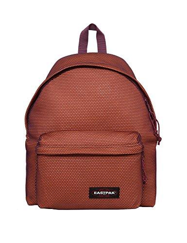 Eastpak Unisex Padded Pak'r Orange-Burgundy Backpack Polyamide by Eastpak