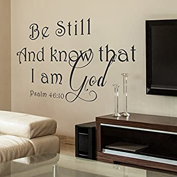 Be Still And Know That I Am God Vinyl Wall Decal   Dining Room U0026 Kitchen