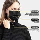 50 PCS Black Disposable Face Masks Breathable Dust