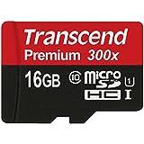 Transcend TS16GUSDCU1 - Tarjeta de memoria micro SDHC de 16 GB
