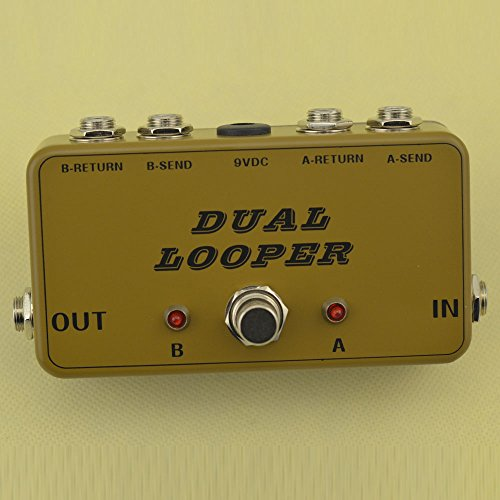 New True-Bypass Looper Effect Pedal Guitar Effect Pedal Looper Switcher true bypass guitar pedal Light Black dual Loop ArmyGreen switch by TTONE