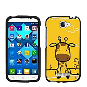 Beyond Cell® Hard Case Design Series - Giraffe - Compatible with Alcatel One Touch Fierce 2 7040T (T-Mobile,Metro PCS,International) - Slim Rubberized Hard Plastic (PC) Case - Retail Packaging