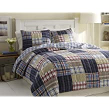 Nautica Chatham Quilt, King, 90 by 100-Inch