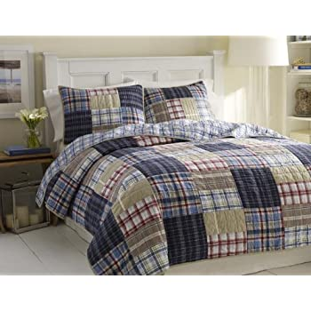Nautica Chatham Quilt, Full/Queen, 86 by 86-Inch