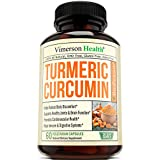 Turmeric Curcumin with Bioperine Joint Pain Relief - Anti-Inflammatory, Antioxidant Supplement with 10mg of Black Pepper for Better Absorption. 100% All Natural Non-Gmo Made in USA