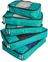 Packing Cube System - Durable 5 Piece Weekender+ Luggage Organizer Set