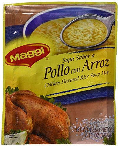 - Sopa Maggi Pollo con Arroz (4 Pack) Chicken Flavored Rice Soup Mix
