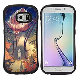 "Pulsar iFace Series Tpu silicona Carcasa Funda Case para Samsung Galaxy S6 EDGE , Bug Kids Madre niños de la historieta"""
