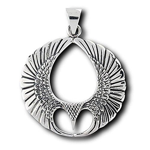 - Eagle Wing Pendant 925 Sterling Silver Unique Teardrop Bird Spirit Feather Charm - Silver Jewelry Accessories Key Chain Bracelet Necklace Pendants