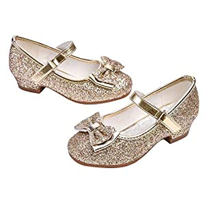 Girls Mary Jane Glitter Shoes