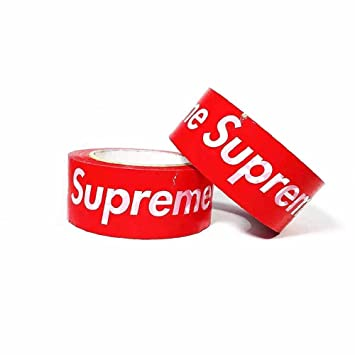 ae7c6b5e46 Supreme Red Logo Packaging Tape,DIY Hypebeast,BOPP Duct Tape,Sealing  Packing Shipping Package Tape,4.5 cm 100 Yards 1 Roll (Red): Amazon.ca:  Office Products