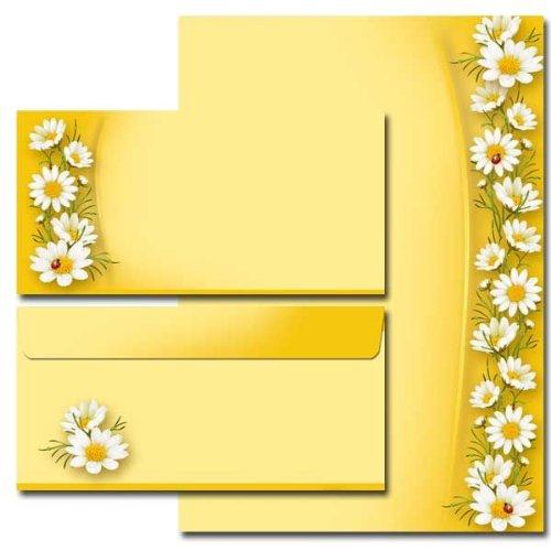 20 Pièces kAMILLEN paper-media set de 10 feuilles de papier à lettre 10 enveloppes format long sans fenêtre assorties