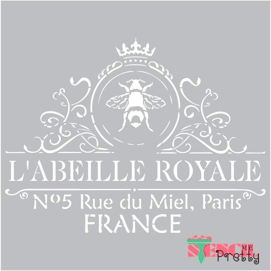 French Royale French Stencil Best Vinyl Large Stencils for Painting on Wood, Canvas, Wall, etc.-XS (12