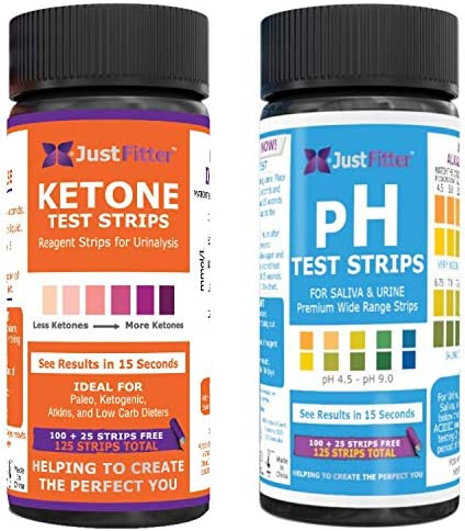 Ketone and pH Test Strips. Get to Keto Faster and Safer by Pairing Up Your Low Carb Ketogenic or HCG Diet with a Balanced pH. Accurately Measure Your Fat Burning Ketosis and Alkaline or Acid Levels. 1