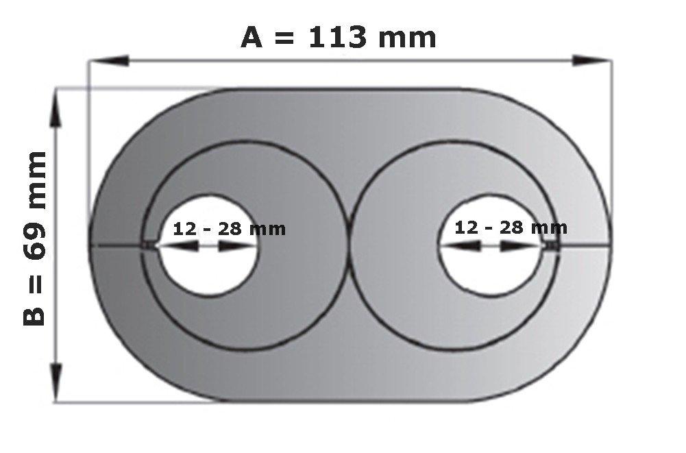 16 mm 5 pcs doble cerradura de colour blanco