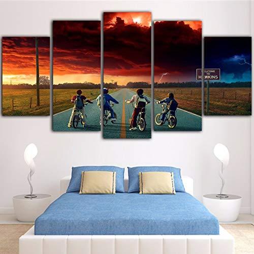xzfddn 5 Unidades Wall Art Stranger Things Pop Art Wall ...