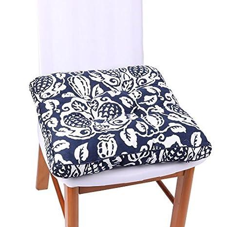 Amazon.com: eDealMax Viajes lienzo al aire Libre Volver soporte de la Silla de coche cojín del asiento del cojín 40cm x 40cm Azul: Home & Kitchen