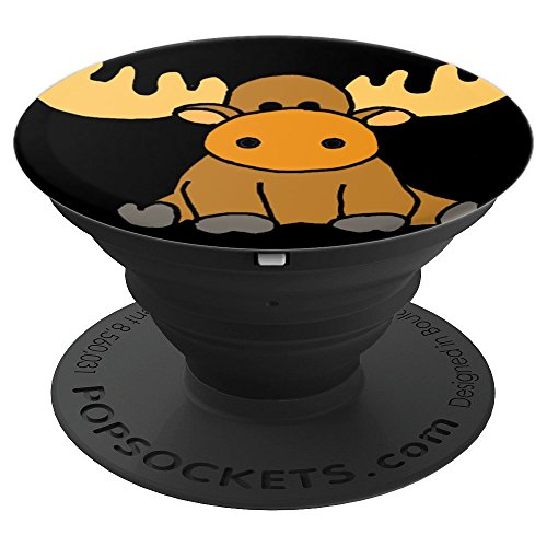 - SmileteesPS Funny Baby Moose Cartoon PopSockets Grip - PopSockets Grip and Stand for Phones and Tablets