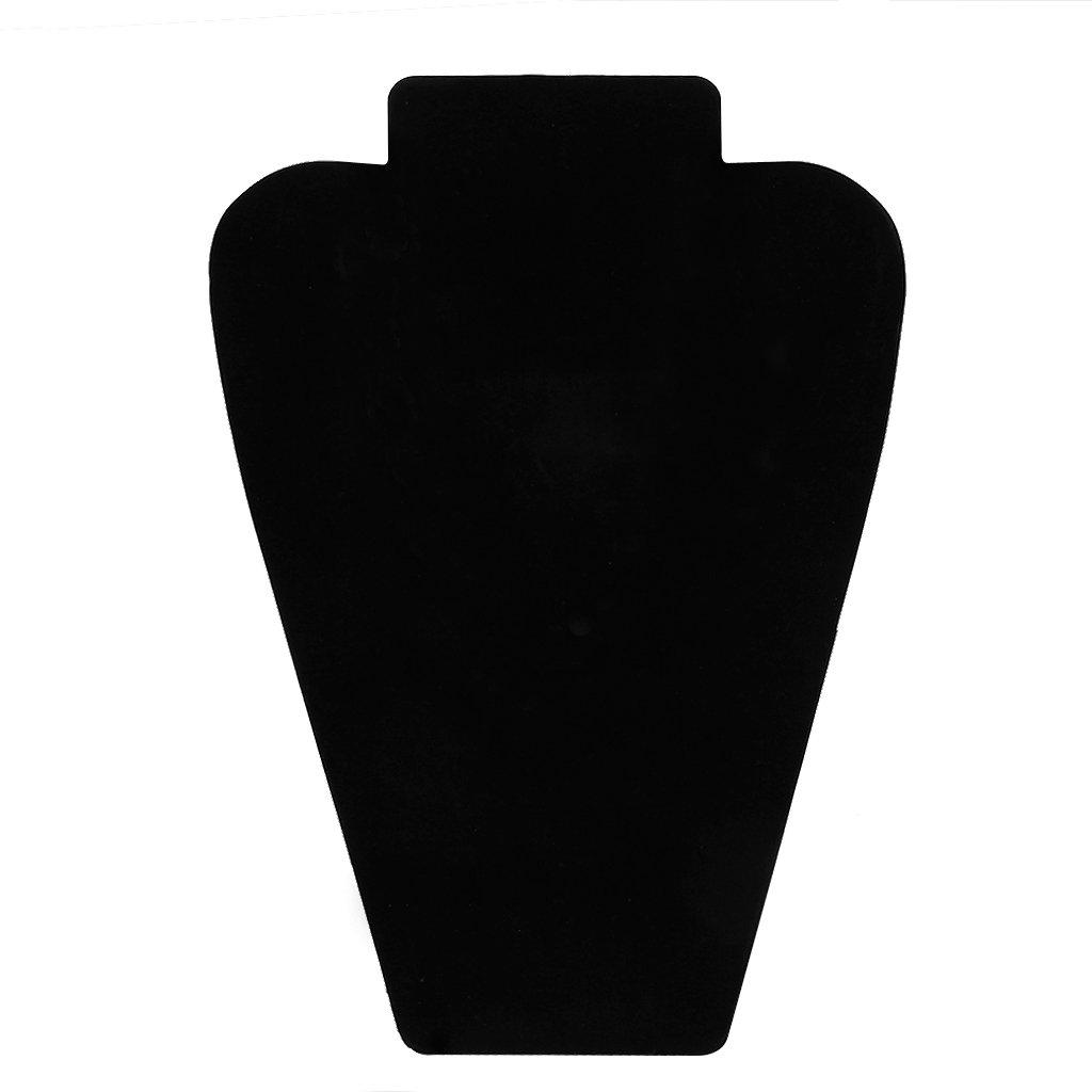Baoblaze Vetrina Espositore Torre Per Esposizione Gioielli Orecchino Collana In Nera Velluto