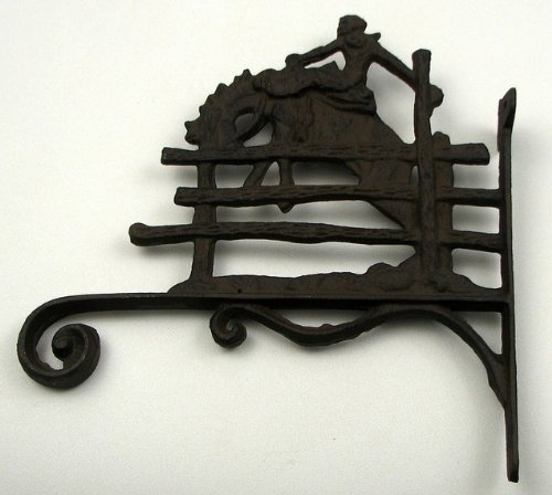 Rider With Fence Hanger - Cast Iron