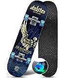 Flash Wheel Skateboard High Smooth High Endurance Skateboard High Speed Silent Skateboard (Color : Wing)