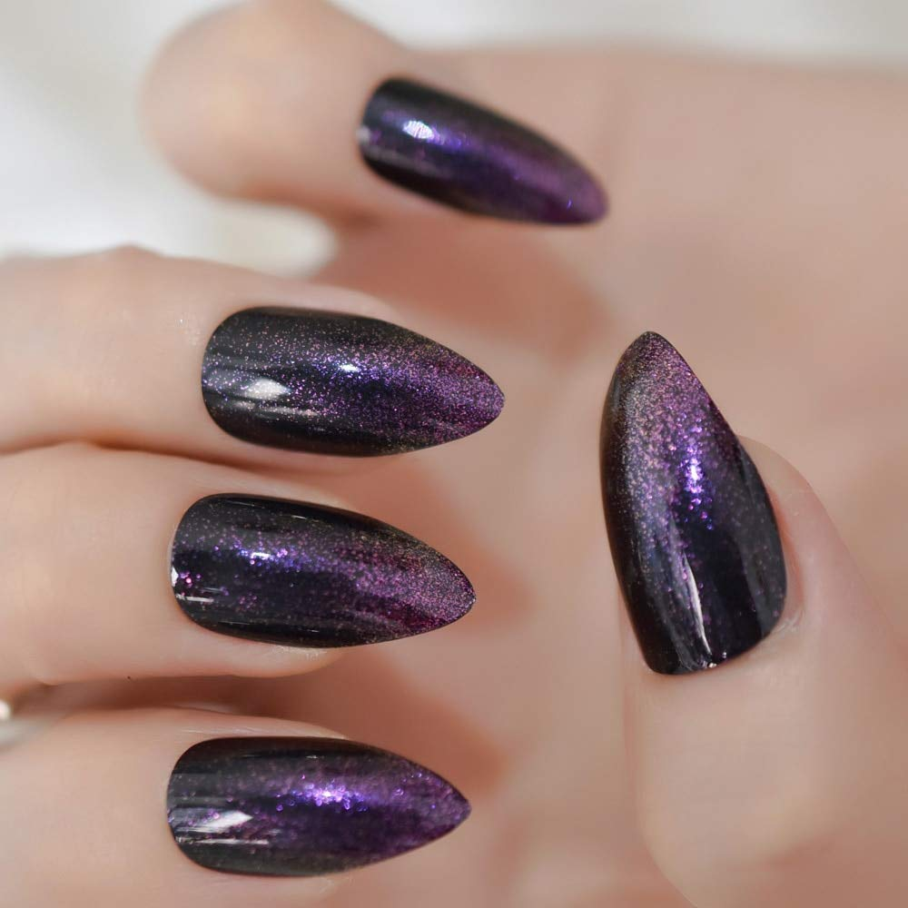 Amazon.com: CoolNail - uñas postizas de color morado con ...