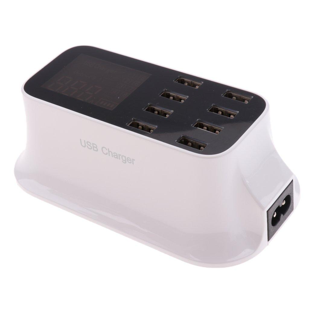 USB Hub 8-Port Hi-Speed Powered USB Splitter with US Plug AC Power Adapter