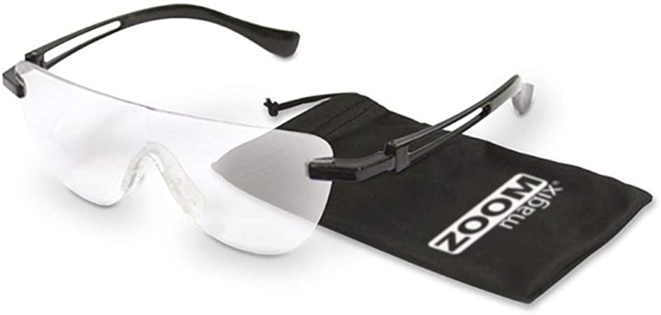 Mediashop Zoom Magix Vergrößerungsbrille Lupen Brille Lesehilfe Nasen Lupe Optische Vergrößerung Bis 160 Für Brillenträger Geeignet Polycarbonat Gläser Das Original Amazon De Küche Haushalt